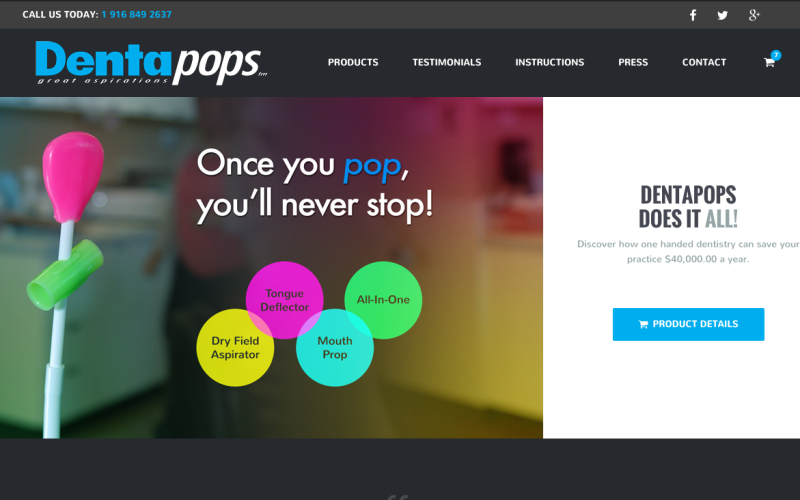 Dentapops Launches New Website and Online Presence
